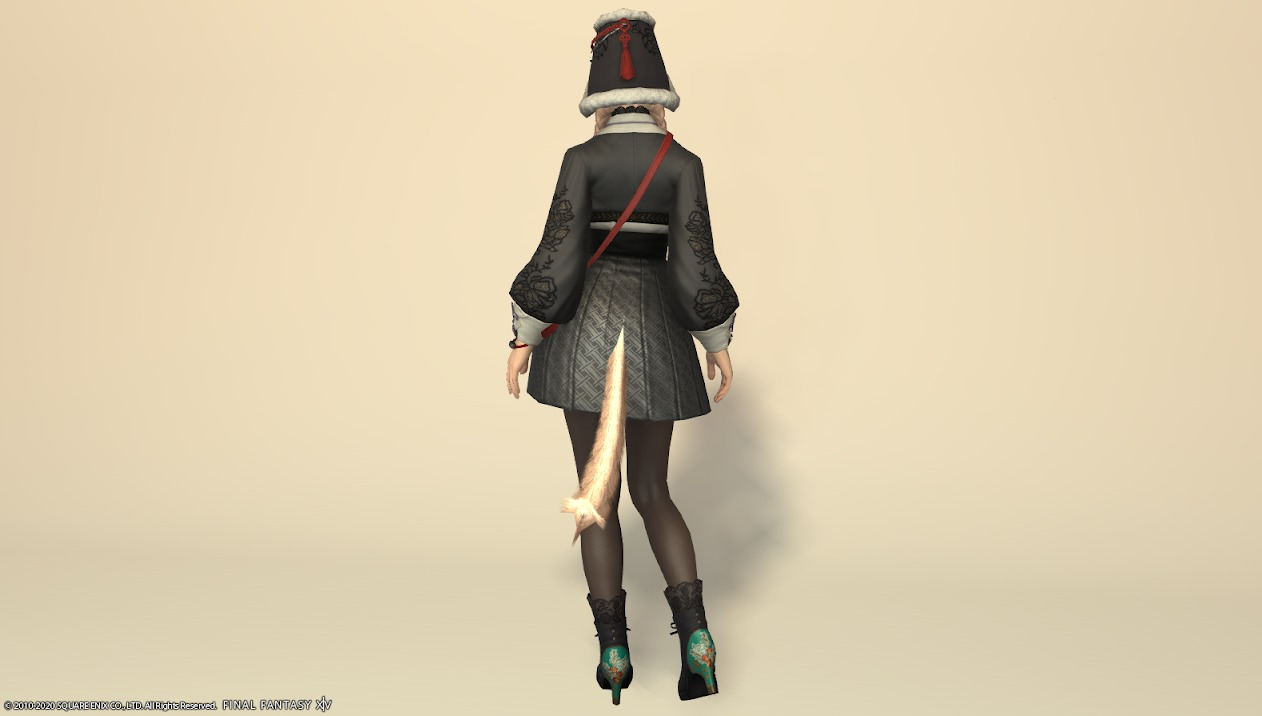 東方美姫衣装セット全身背面
