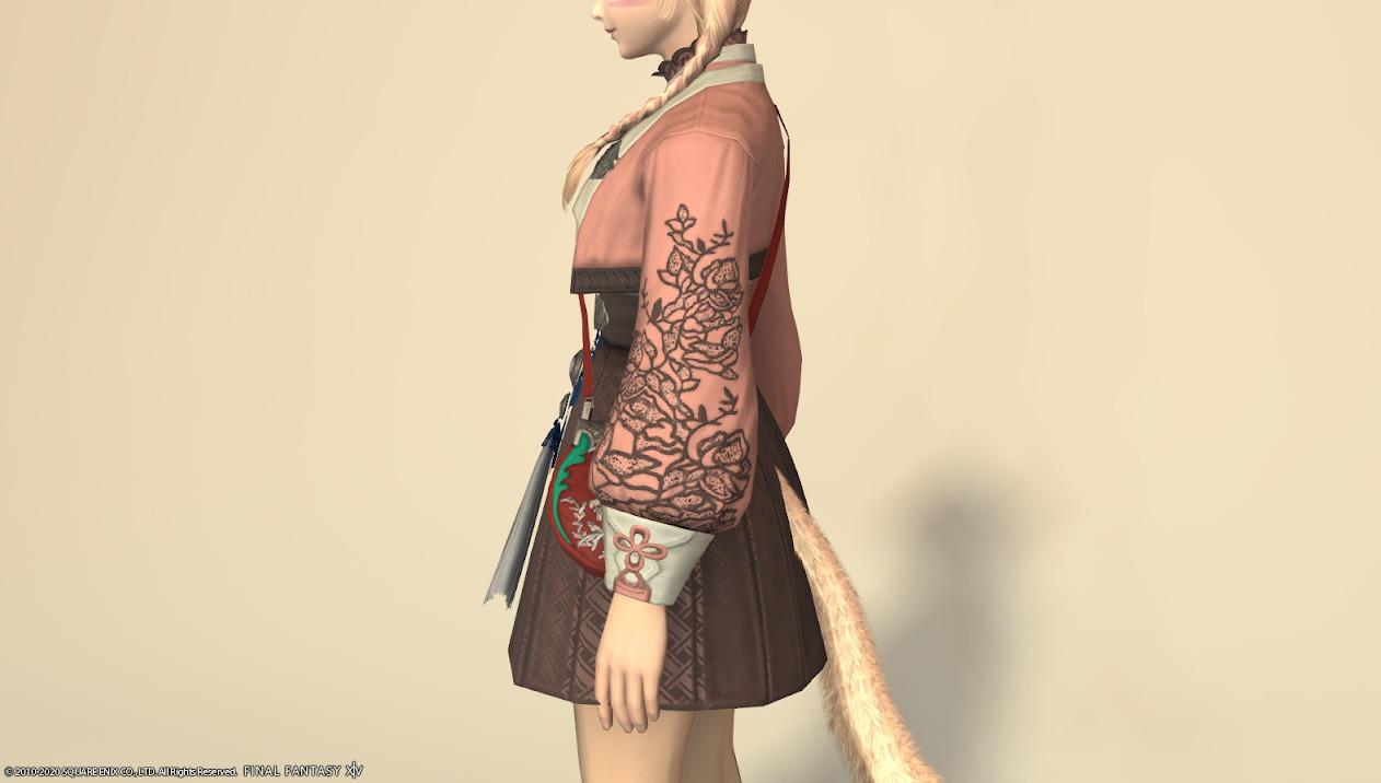 東方美姫衣装セット胴ローズピンクサイド