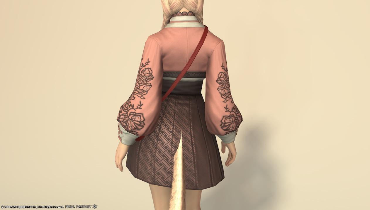 東方美姫衣装セット胴ローズピンク背面