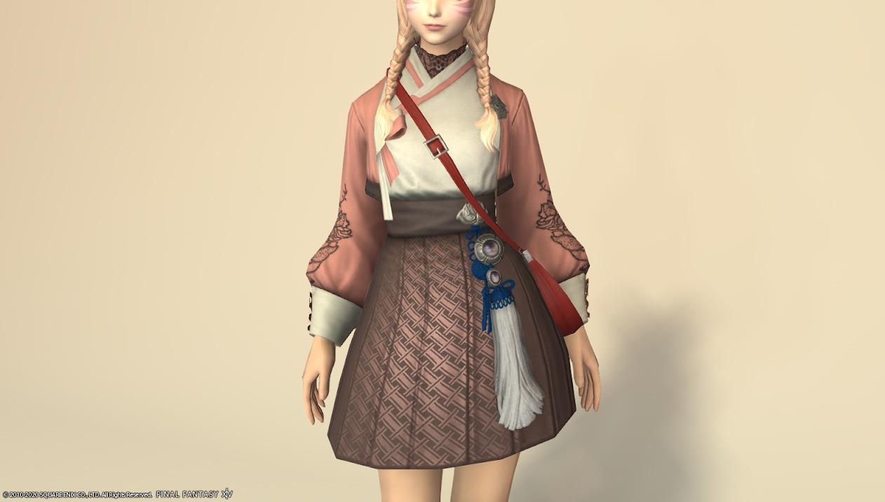 東方美姫衣装セット胴ローズピンク