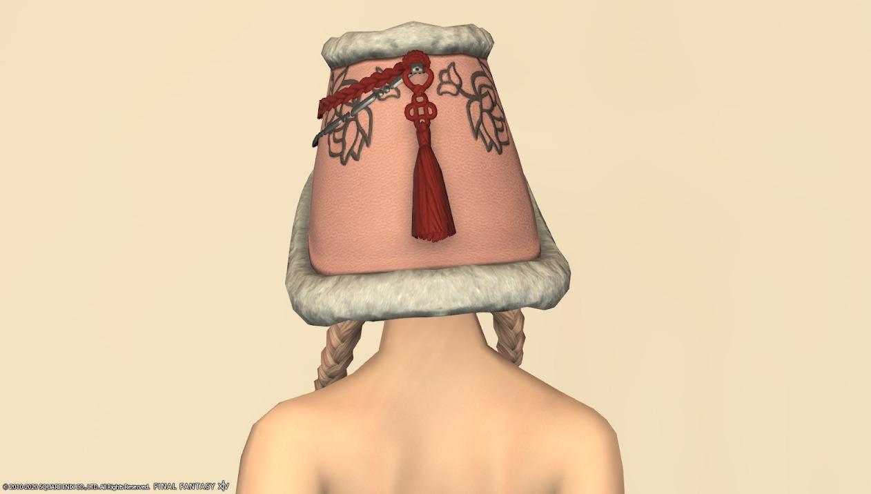 東方美姫衣装セット頭ローズピンク背面