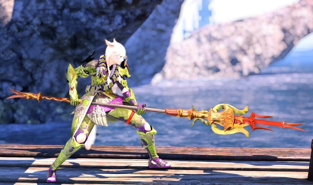 スネイクタン装備竜騎士武器合わせ抜刀