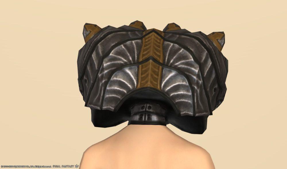 ベアズモウ頭背面