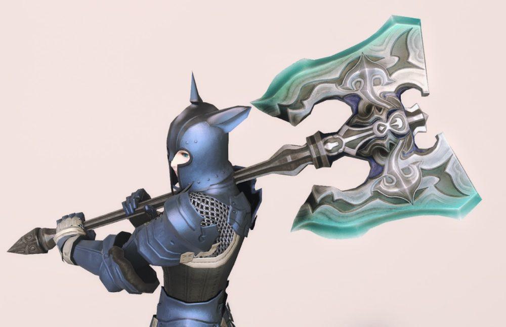 ウォーウルフディフェンダー戦士武器合わせ抜刀ポーズ