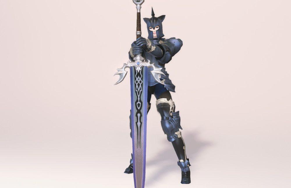 ウォーウルフディフェンダー暗黒騎士武器合わせ抜刀ポーズ