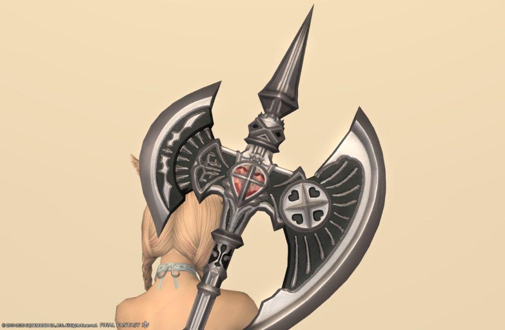 ゴーストバークディフェンダー戦士武器アイリスパープル上部