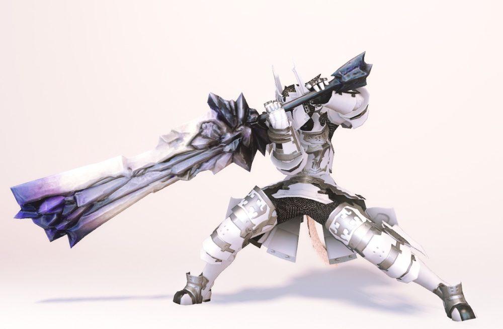 ダイアウルフディフェンダー暗黒騎士武器合わせ抜刀ポーズ