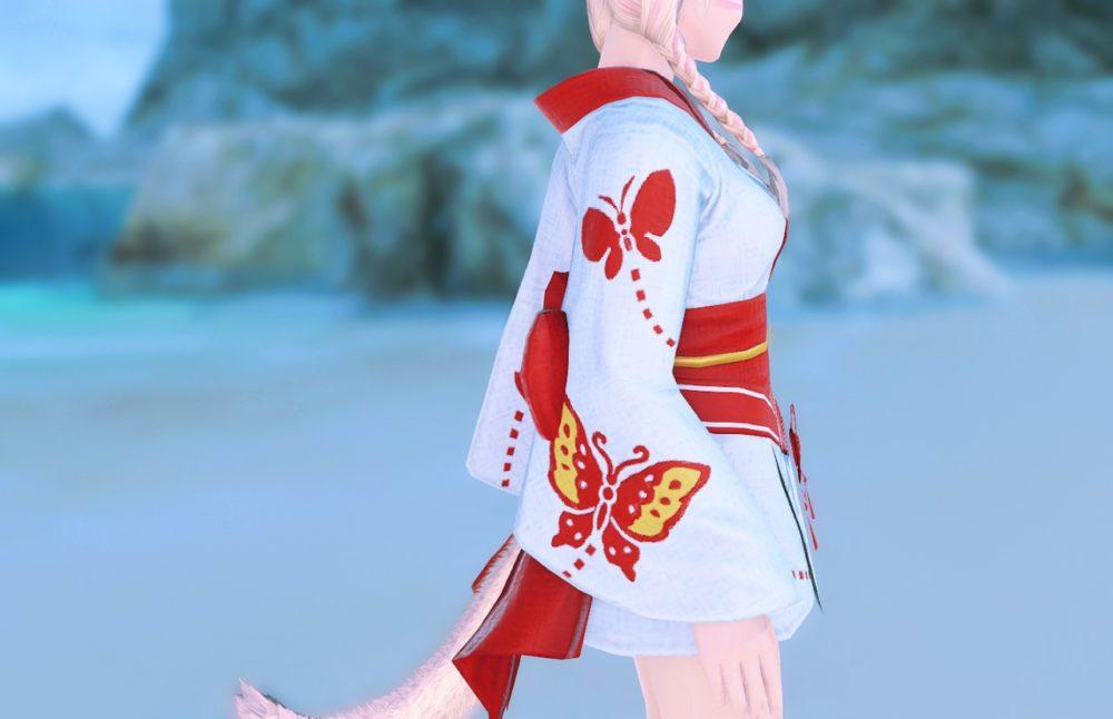 紅蝶姫君浴衣サイド