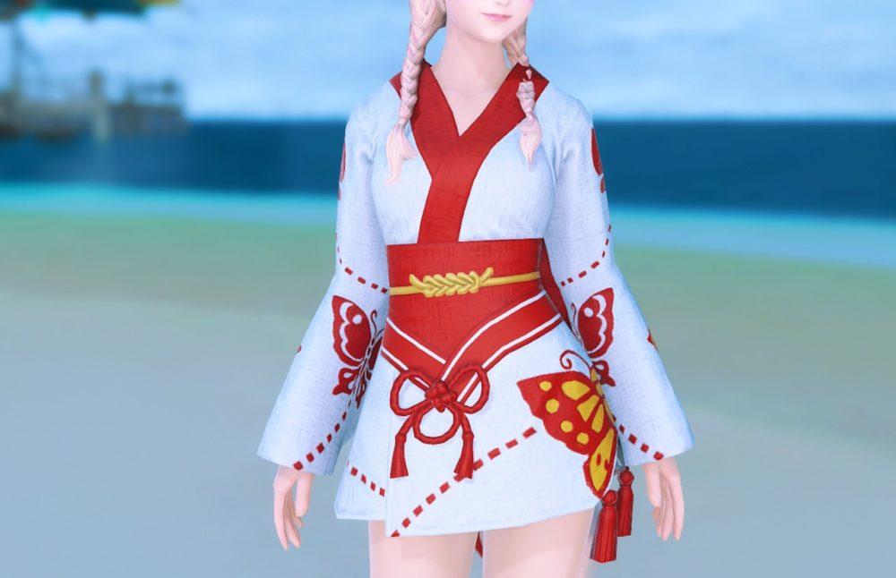 紅蝶姫君浴衣正面