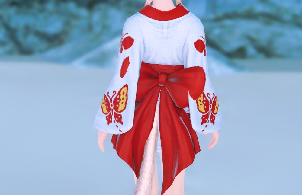 紅蝶姫君浴衣背面
