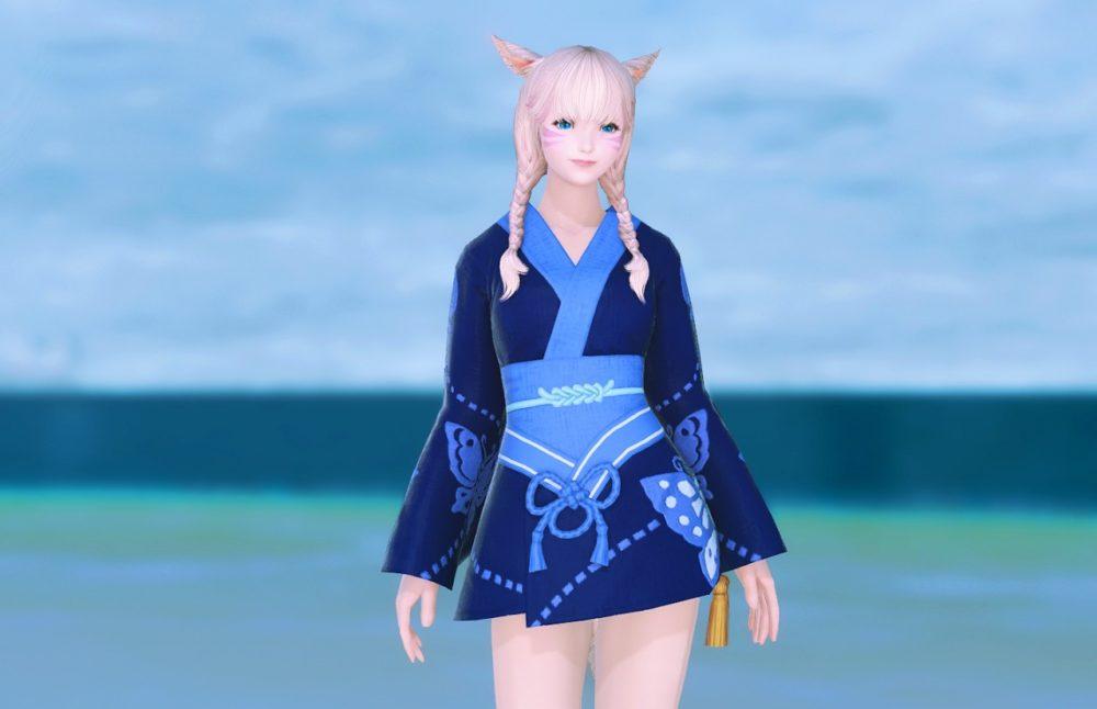 蒼蝶姫君浴衣