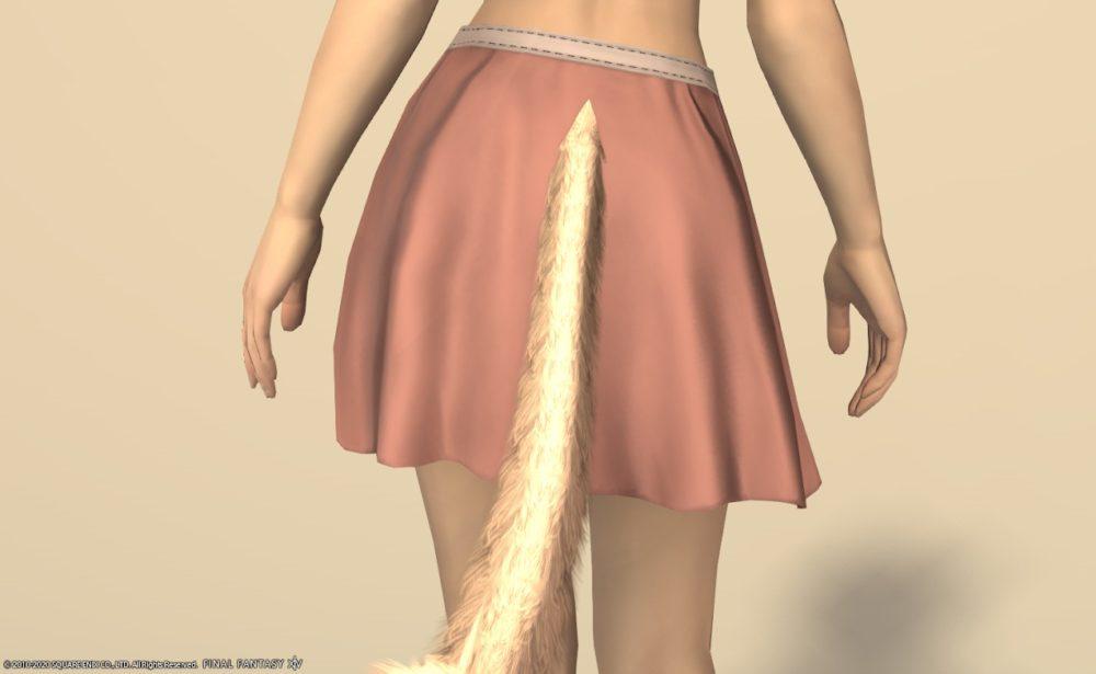 サザンシー装備脚ローズピンク背面