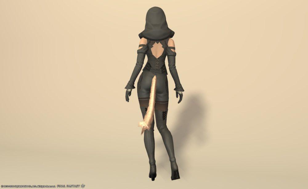 サレタ忍者装備全身スレートグレイ背面