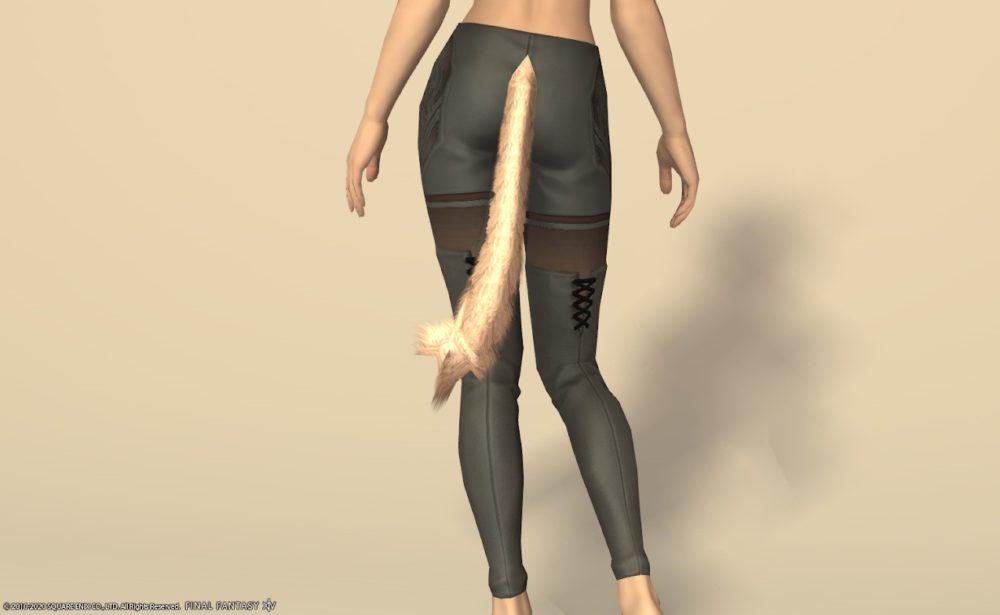 サレタ忍者装備脚スレートグレイ背面