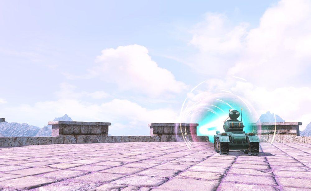 ドワーフ戦車マウントアクション背面