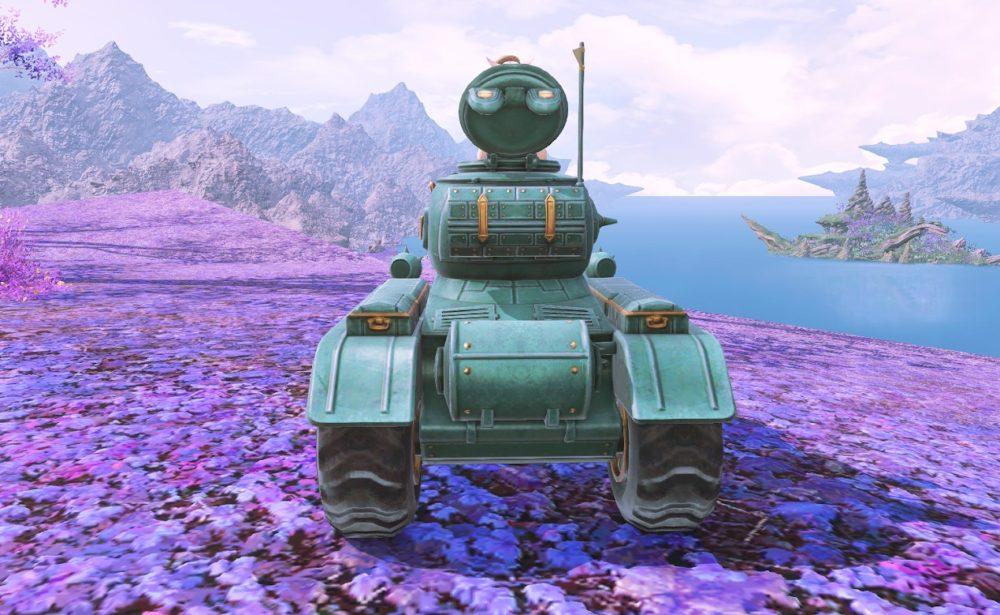 ドワーフ戦車背面