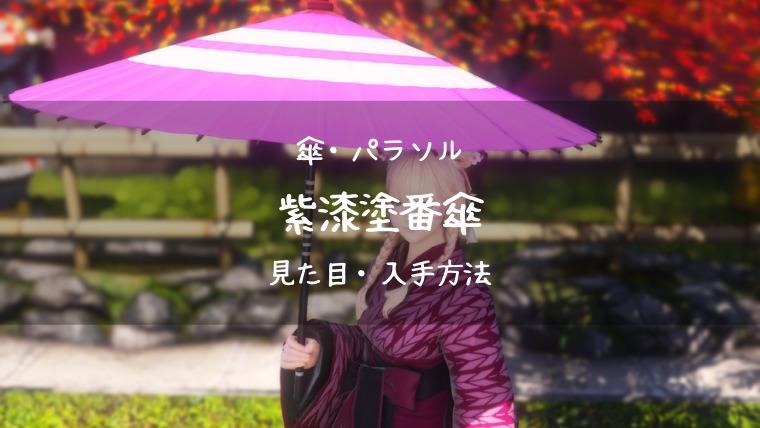 紫漆塗番傘の見た目・入手方法まとめ
