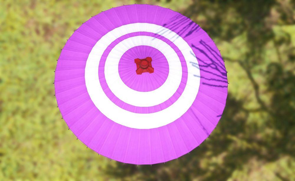 紫漆塗番傘上から