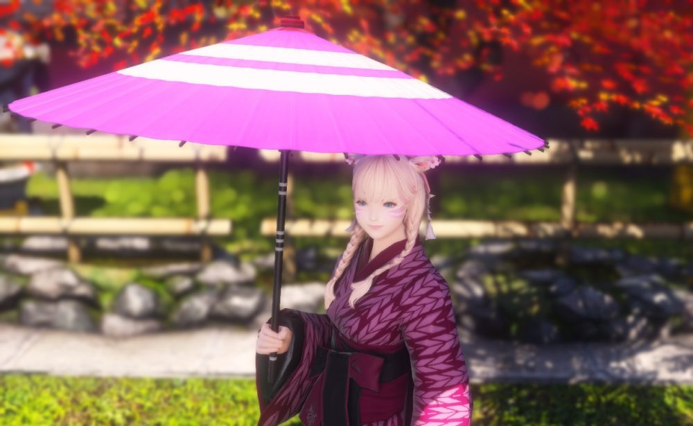 紫漆塗番傘