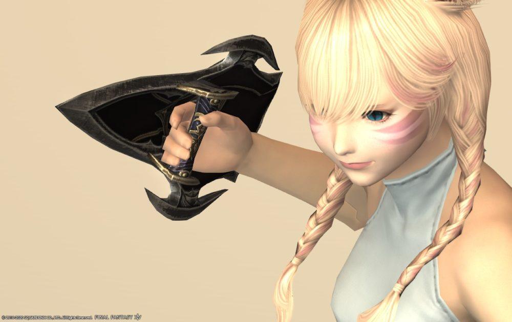 エデンモンク武器抜刀背面