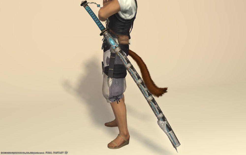エデン侍武器メタリックスカイブルー納刀