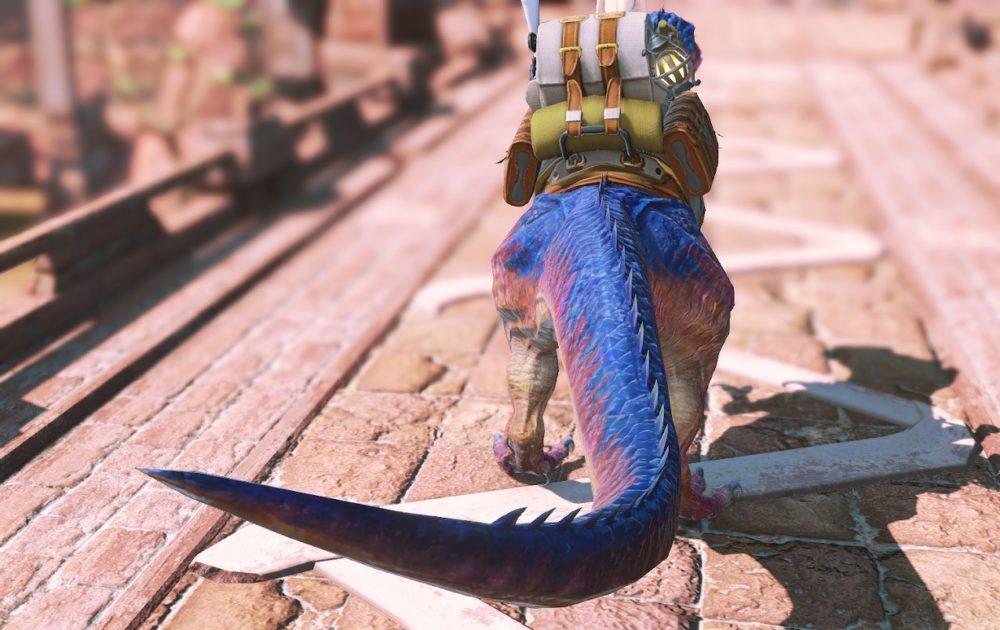 ティラノサウルスマウント背面