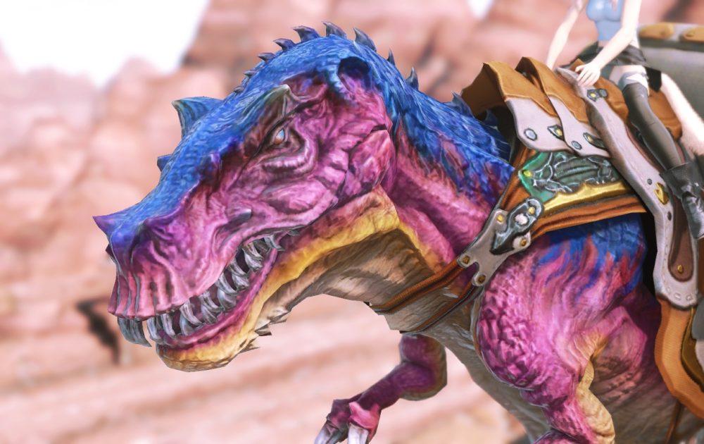 ティラノサウルスマウント顔アップ