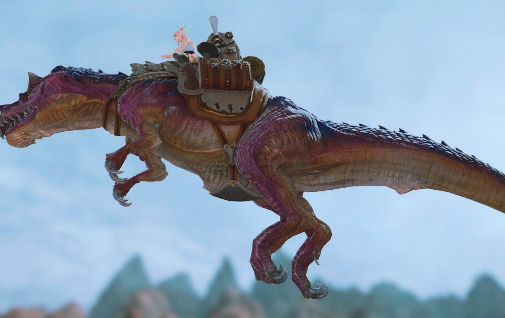ティラノサウルスマウント飛行サイド
