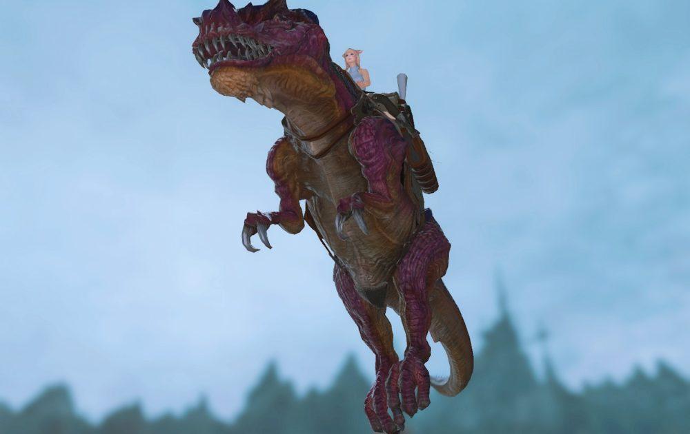 ティラノサウルスマウント飛行下から