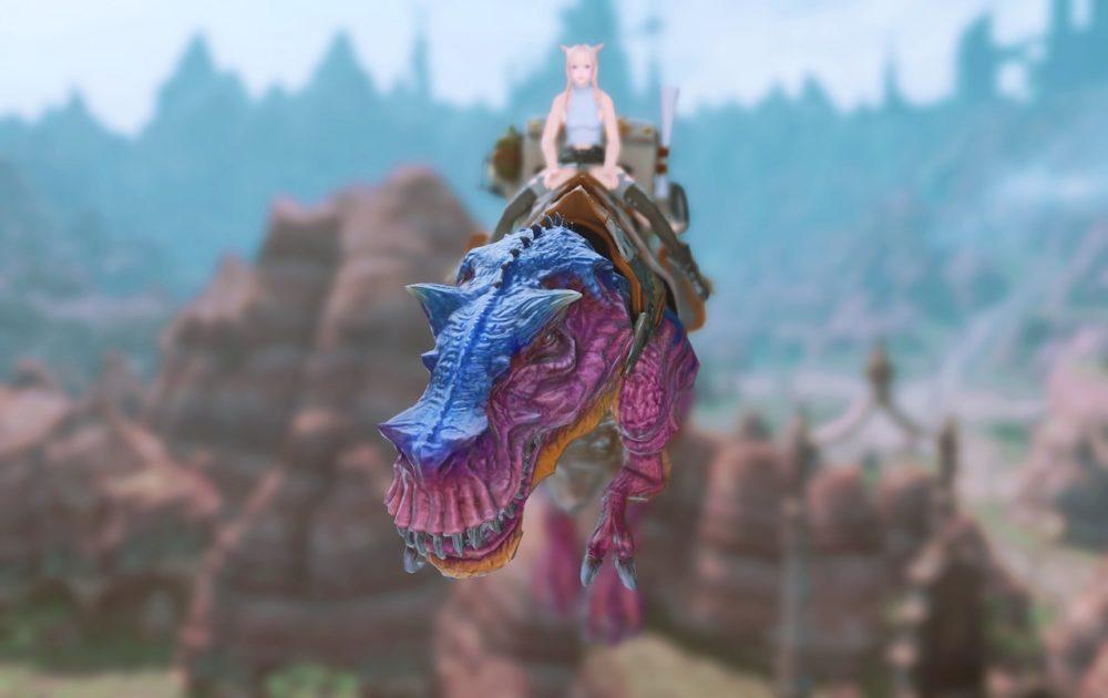ティラノサウルスマウント飛行正面