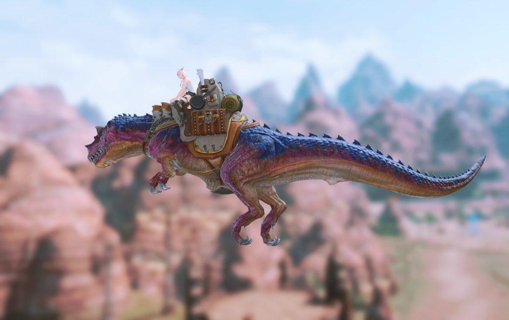 ティラノサウルスマウント飛行
